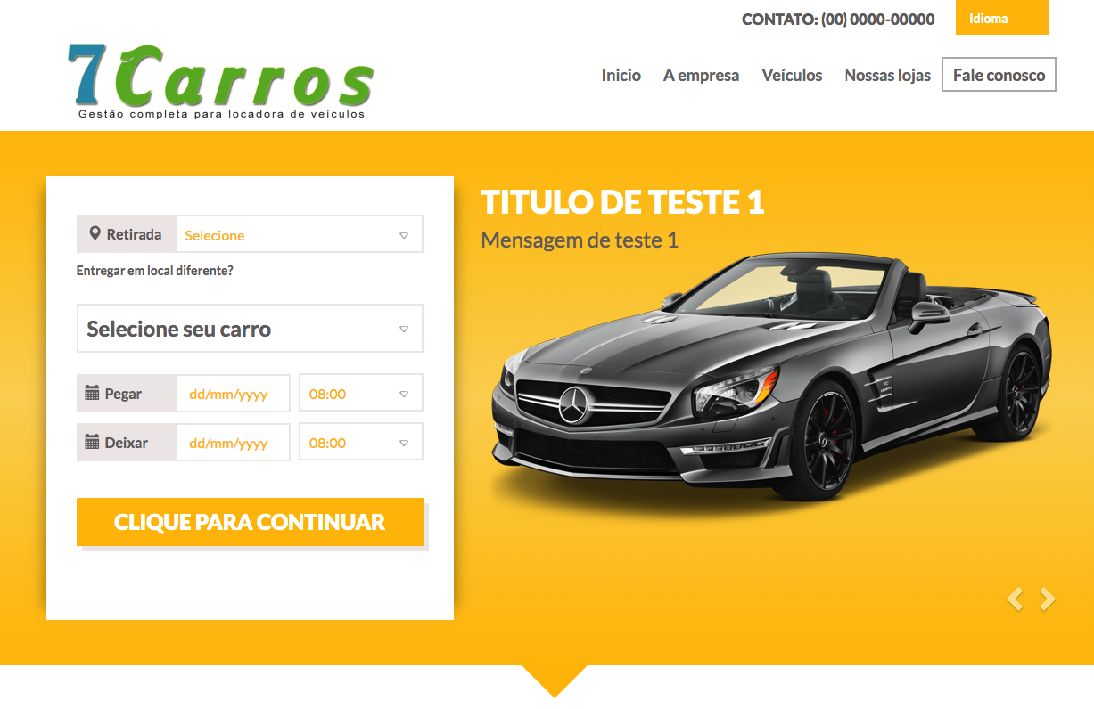 Site integrado ao sistema